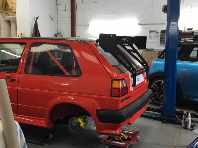 VW Golf MK2 BYC wing mount kit